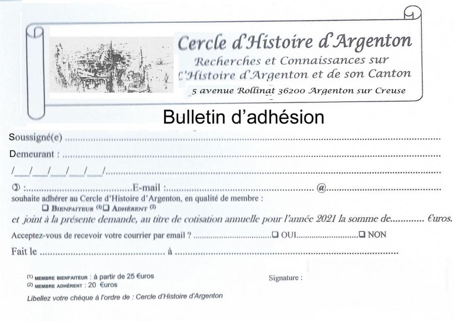 Bulletin d adhesion 1